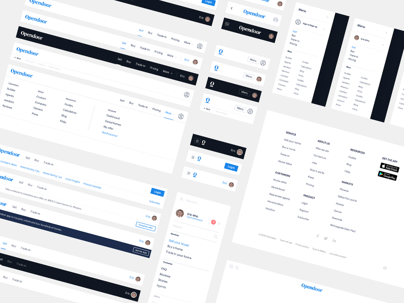 Navigation components explorations navigation component ux ui product scale website web frontend design system
