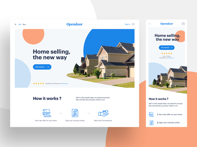 Responsive hero section section hero real estate abstract house brand web ui mobile web design