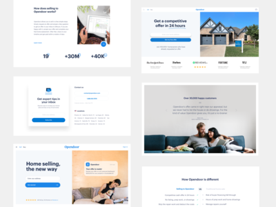 Homepage components