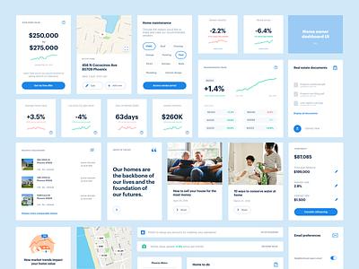 Dashboard UI kit house dash user comps web layout data cards kit real estate ui