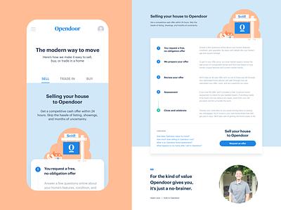 How it works responsive page responsive home house branding layout design ui opendoor web