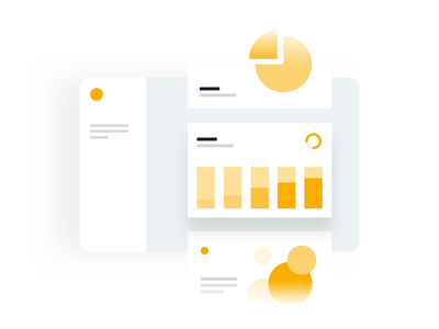 Automated Reports tech simple graph dashboard stats landing product web ui illustration