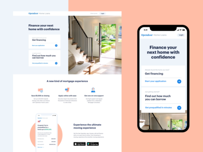 Home loans product page