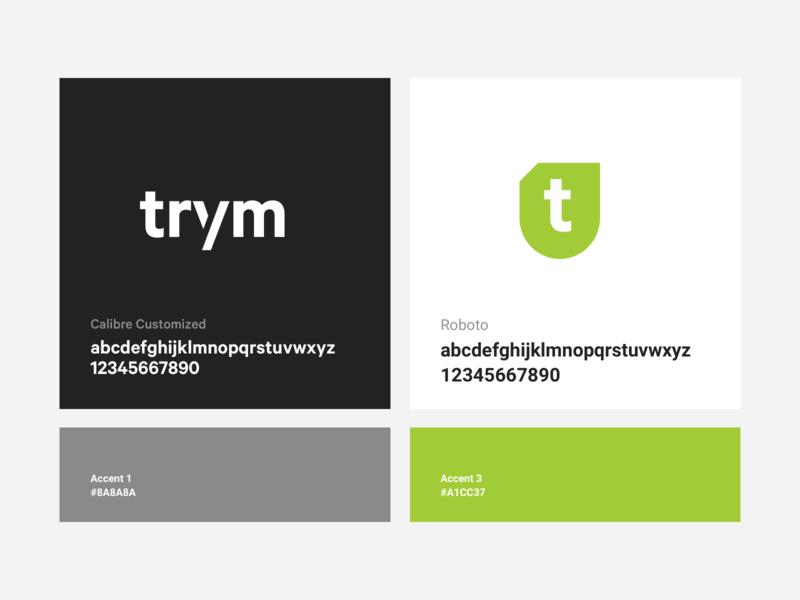 Trym branding identity colors exploration typography logo brand branding