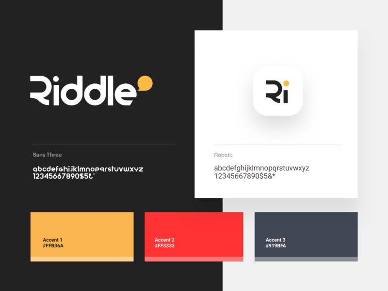 Riddle branding typography icon bubble vector mark logo identity branding brand app