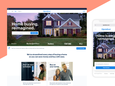 Buyer landing page web design banner hero house real estate home product web design layout