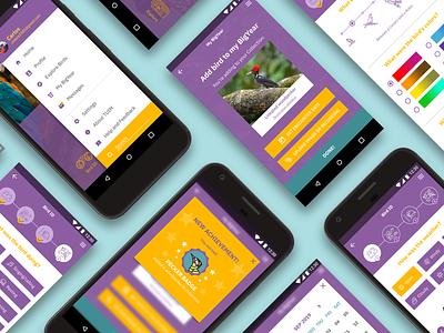 Tuim App - screens birdwatching app design bird uxdesign uidesign ui  ux app