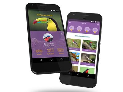 Tuim App - mockup birdwatching birder bird ui design app design ux design app