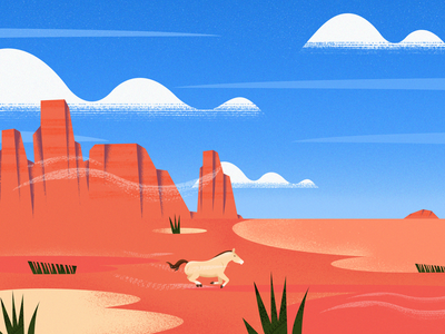 The Desert View !! canyon america landscape nature horse west sahara desert plant vector texture art color illustration design