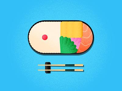 Bento Time egg food color japan bento art design illustration