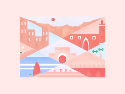 Moroccan Theme 2 theme traditional morocco texture color art design illustration