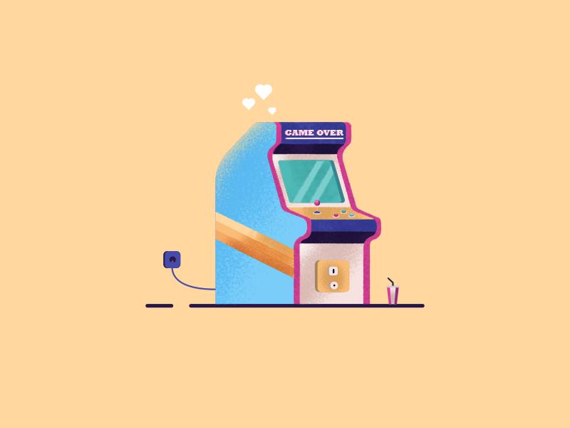 Arcade Fun !! fun game arcade color texture design art illustration