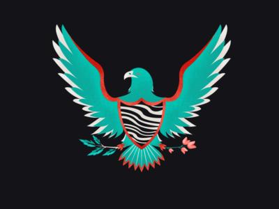 Eagle !! bird eagle texture color art design illustration