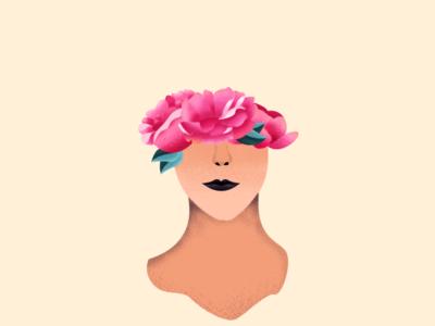 Lady Flower Filter filter plant flower girl women art texture color design illustration