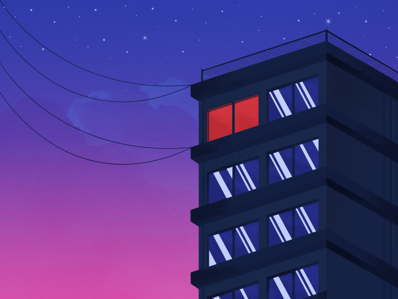 Cool Builiding !! vibes building house home gradient texture color art design illustration