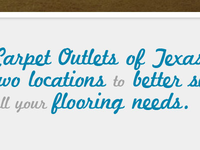 Carpet Outlets scripting