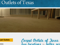 Carpet Outlets webpage