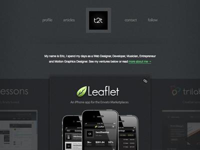 Two2Twelve.com Redesign redesign portfolio dark ui ux minimal