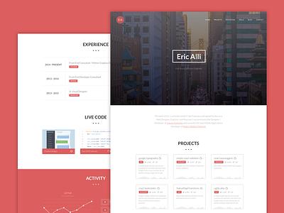Devfolio - A Portfolio For Software Engineers snippets code blog icons graph engineering web portfolio