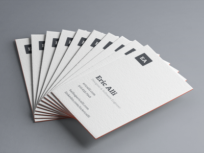 Business Card Design moo cotton letterpress typography personal branding logo business cards clean