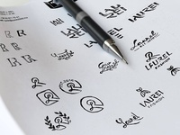 LAUREL Logo sketchs