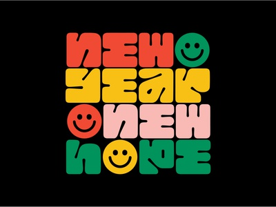2021 typography illustration cute type design vector fun icon smile new years eve 2021 2020 new year