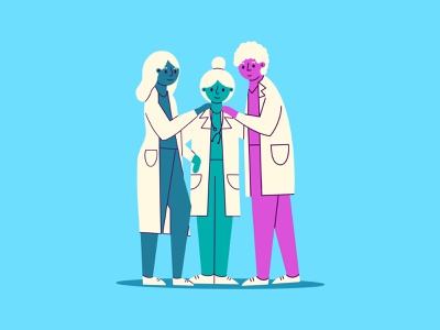 Physicians telehealth nurse friendly support community human people spot science lab health medical doctor illustration physician