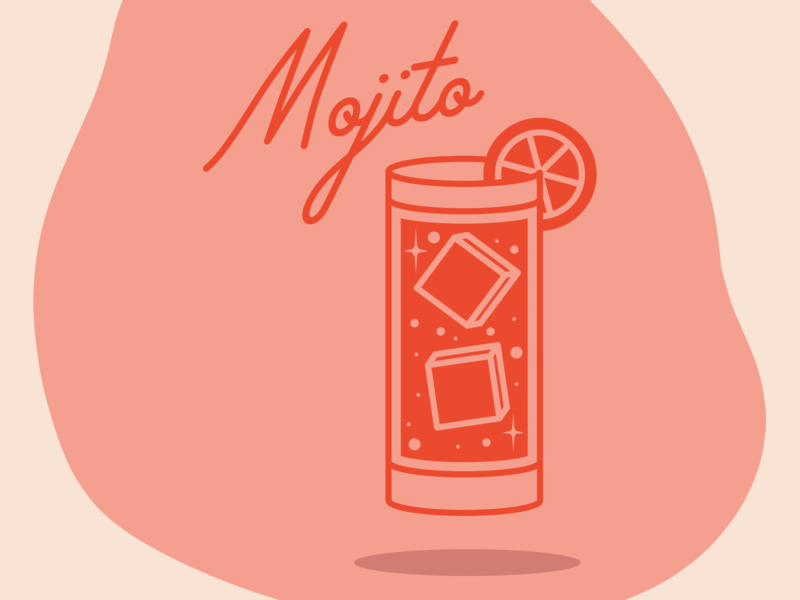 Mojito logo icon artwork icon food drink menu drink local drinking illustration challenge retro cartoon vingtage retro design mojito illustration drink