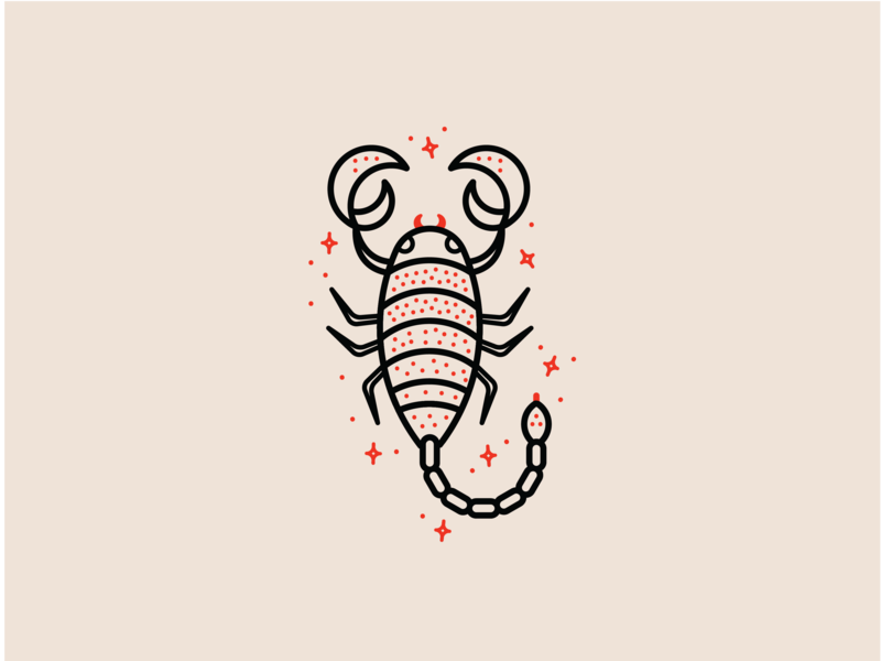 Zodiac - Scorpio sparkle star flat vector cute insect bug animal logo animal red icon set minimal clean astrology zodiac sign zodiac scorpion scorpio icon illustration