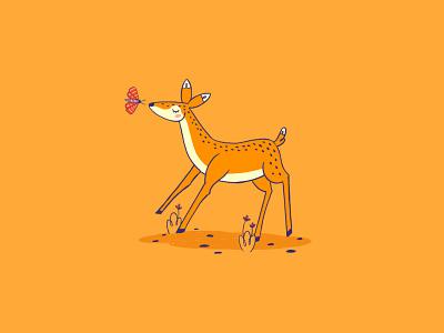 Little Deer inktober2019 inktober nature animal doe fawn animal logo deer illustration