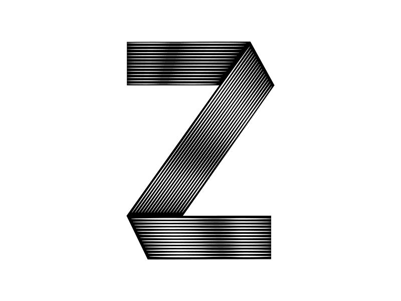 Letter Z lettering vector typography type minimal letter blackandwhite 36daysoftype 36days-z