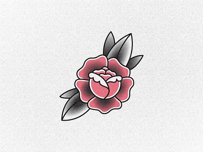 rose illustration line art tattoo flower rose