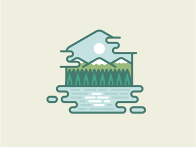 Nature woodsy outdoors neutral hiking vector line nature