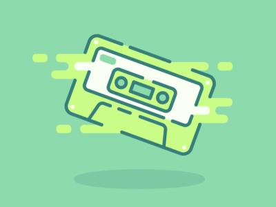 goo goo mixtape green cassette slime