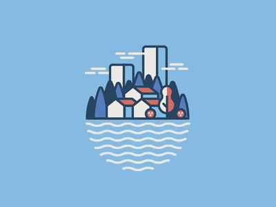 little city palette limited city illustration line