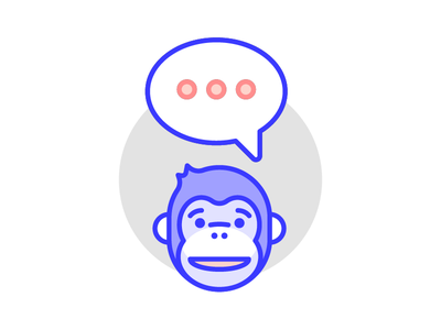 Minky illustration mail chimp ape monkey