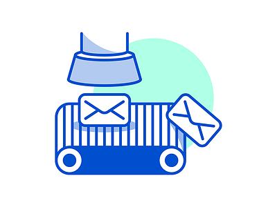 Automation line art dichromatic illustration fun mailchimp