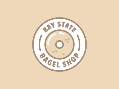 Boston's Best Bagels thunderdome circle illustration boston logo bagel bsds