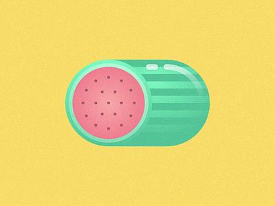 WaterMel texture grain melon flat illustration simple geometric noise watermelon