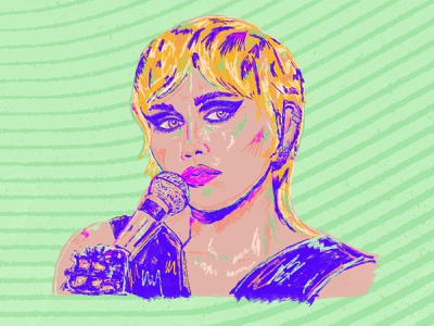 Day 3 –Miley Cyrus celebrity heart of glass miley cyrus portrait illustration