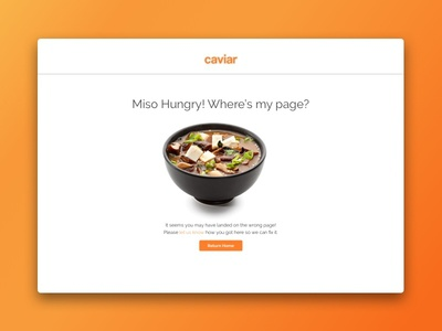 Error Pages for Caviar
