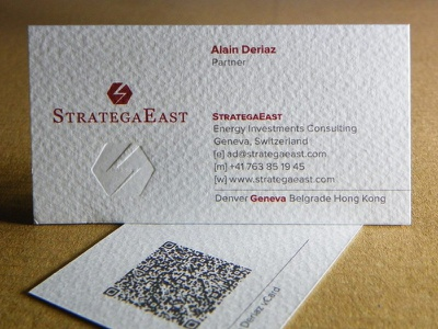 StrategaEast Business Cards strategaeast branding business card