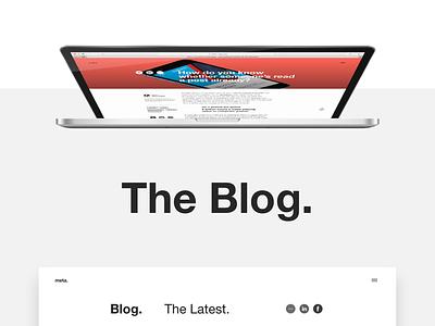 Meta Blog grids minimal helvetica uiux webdesign