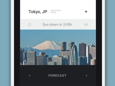 Weather App from BANG OS visual design mobile operative system uiux