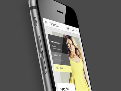 E—Store simple flat grids webdesign ux ui e-commerce fashion app