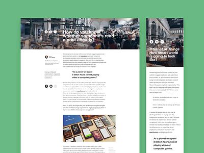 Blog II grids minimal helvetica uiux webdesign