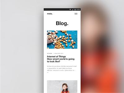 Meta Blog — Mobile helvetica minimal flat responsive mobile ui design meta