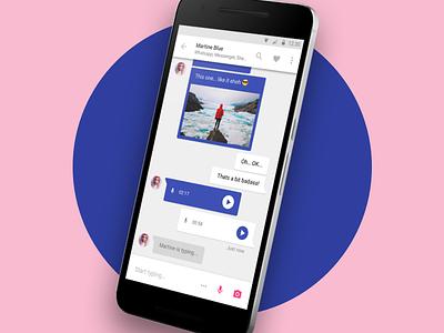 Messaging app messenger whatsapp messages chat maeterial design