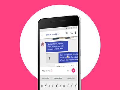 Messaging app ui messages chat flat material design