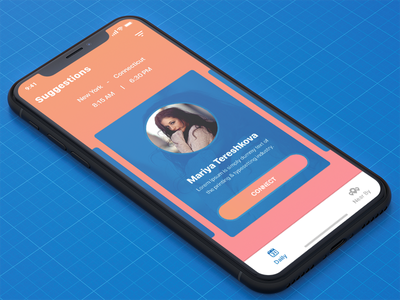 Suggestions | Car Pool App connect scrol cards friends recommendations suggestions iphonex ux ui car pool